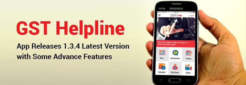GST Helpline App Features