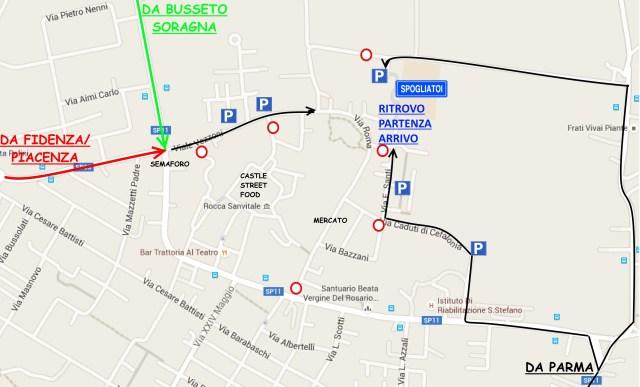 cartina Fontanellato