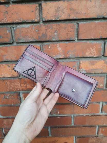 portafoglio in cuoio con porta monete
