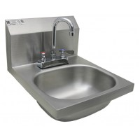 Stainless Steel Wall Mount Hand Sink w/ No Lead Faucet and ...