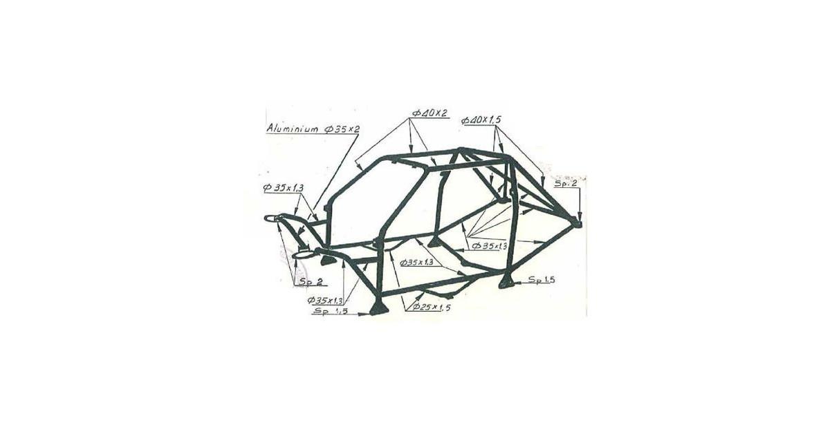 OMP Weld-in Rollcage Multipoint Structure Volkswagen Golf