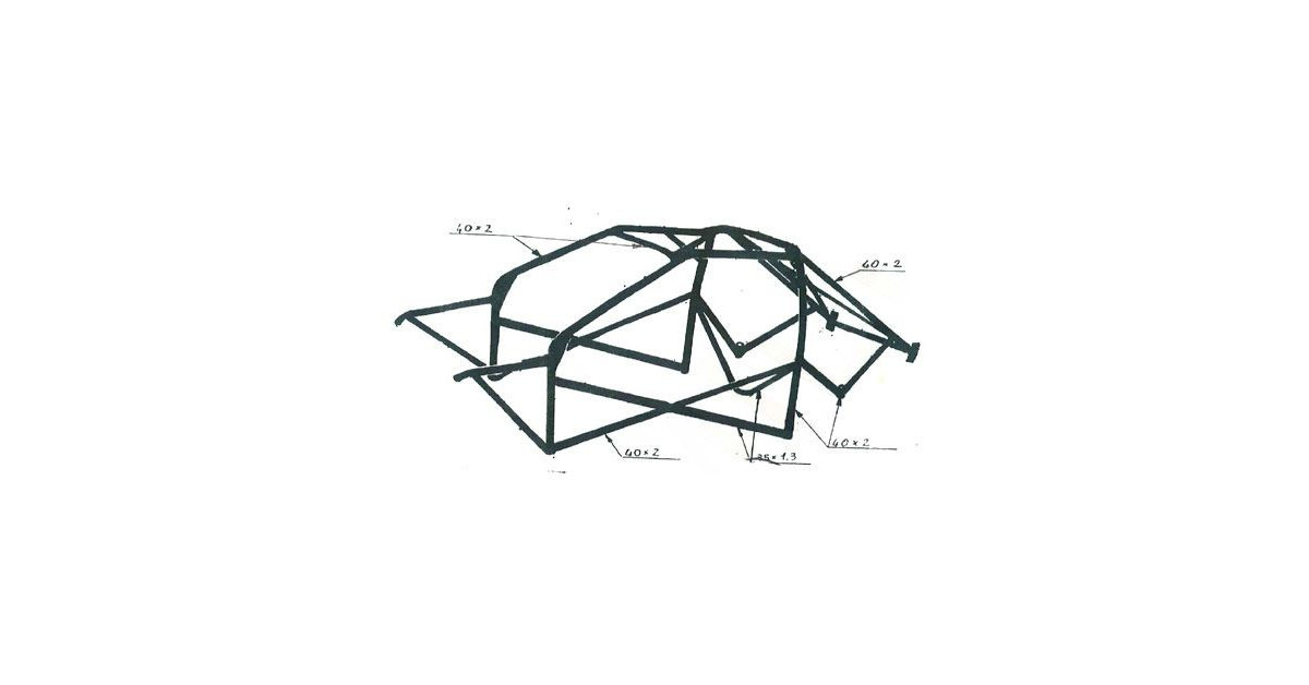 OMP Rollcage Multipoint Structure BMW E36 Compact After