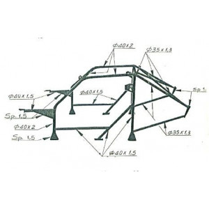 OMP Rollcage Multipoint Structure Lancia Delta Integrale