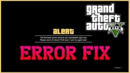 Grand Theft Auto 5 / GTA V all problem error crach fix solved
