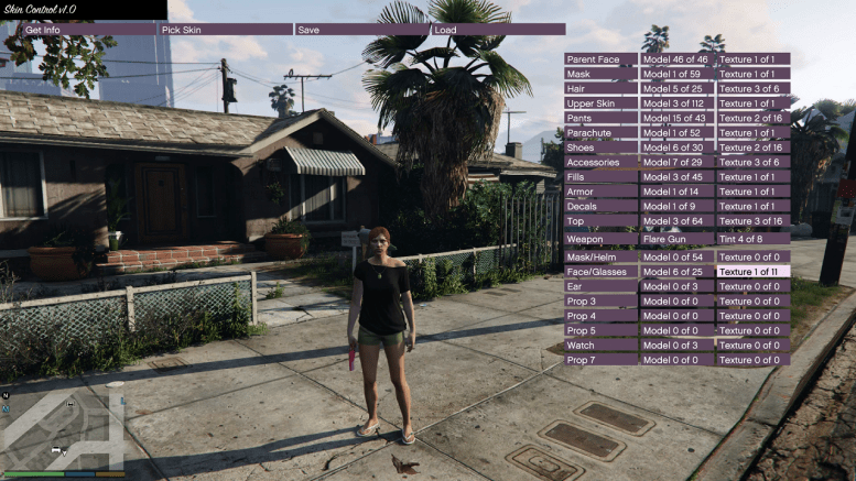 GTA 5 Skin Control Mod for Grand Theft Auto V