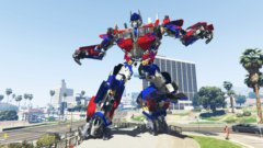 The Statue Of Optimus Prime
