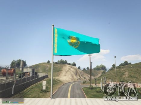 GTA 5 The Flag Of Kazakhstan second screenshot
