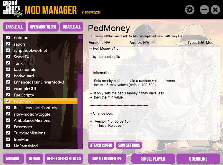 GTA 5 Mod Manager   GTA V