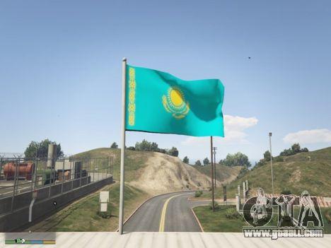 GTA 5 The Flag Of Kazakhstan third screenshot