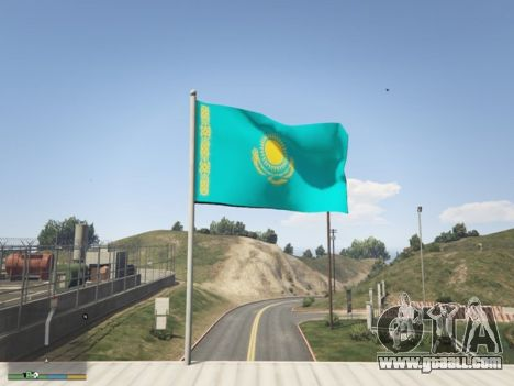 GTA 5 The Flag Of Kazakhstan third screenshot