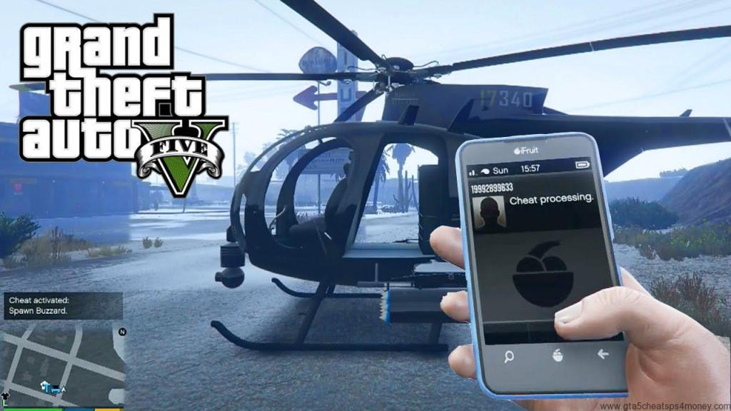 GTA 5 Cheats Helicopter