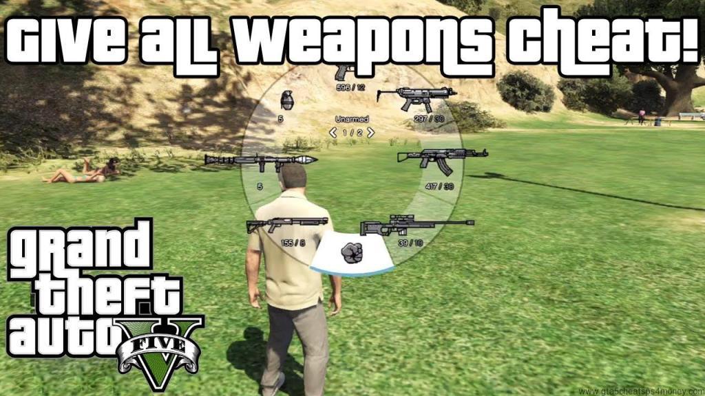 GTA 5 Cheats Guns