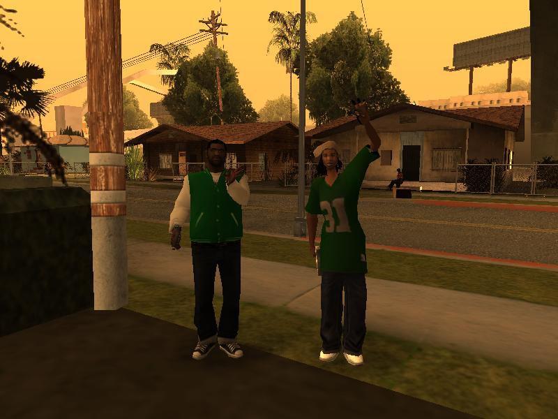 Grand Theft Auto Wallpaper Girl Gta San Andreas New Grove Street Members Mod Gtainside Com