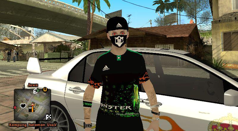 GTA San Andreas Skin Swagger Monster Energy Mod
