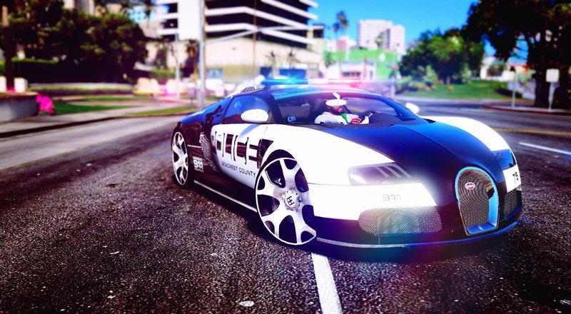 GTA 5 Bugatti Veyron Police Mod