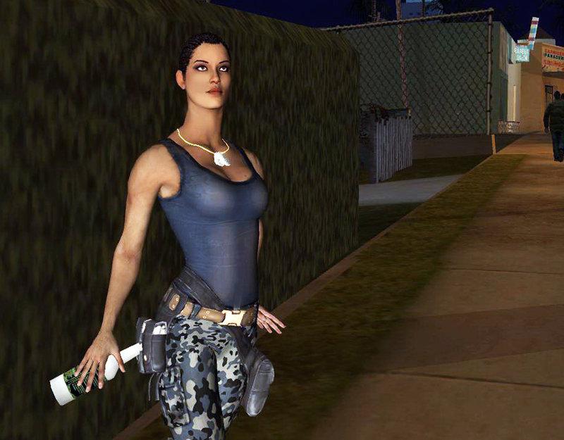 GTA San Andreas Mortal Kombat X Jacqui Briggs Mod