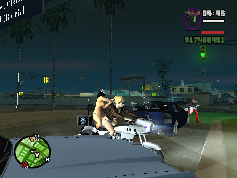 GTA San Andreas Female CJ Hot Babe Girl Player for San