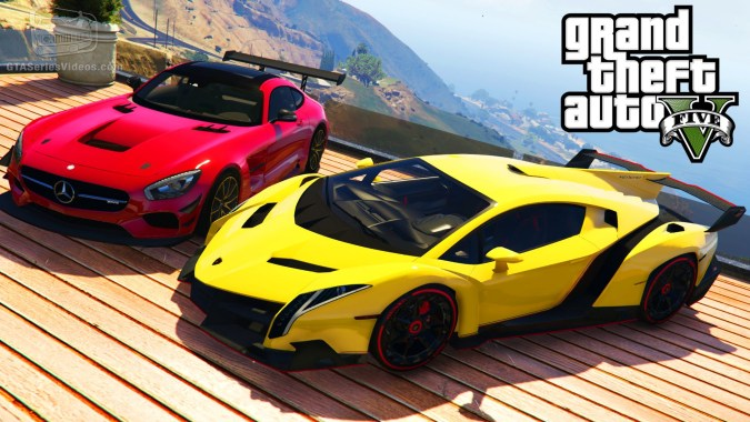 Gta 5 Car Mods 5 Lamborghini Veneno Bmw I8 Mercedes Benz Amg Gt