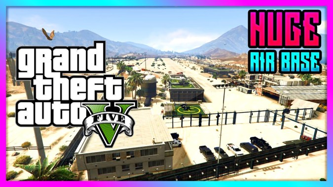 GTA 5 - Ultimate Military Airbase at Sandy Shores! - HUGE Military Base  Mod! (GTA V)