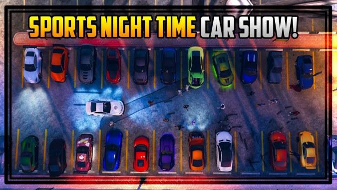 gta   sports cars car show  night awesome