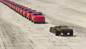 GTA 5 – CAN A RAMP CAR FLIP 100+ VEHICLES IN A ROW? – GTA