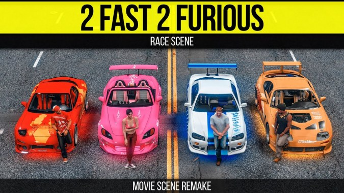 Grand Theft Auto 5 2 Fast Furious Race Scene