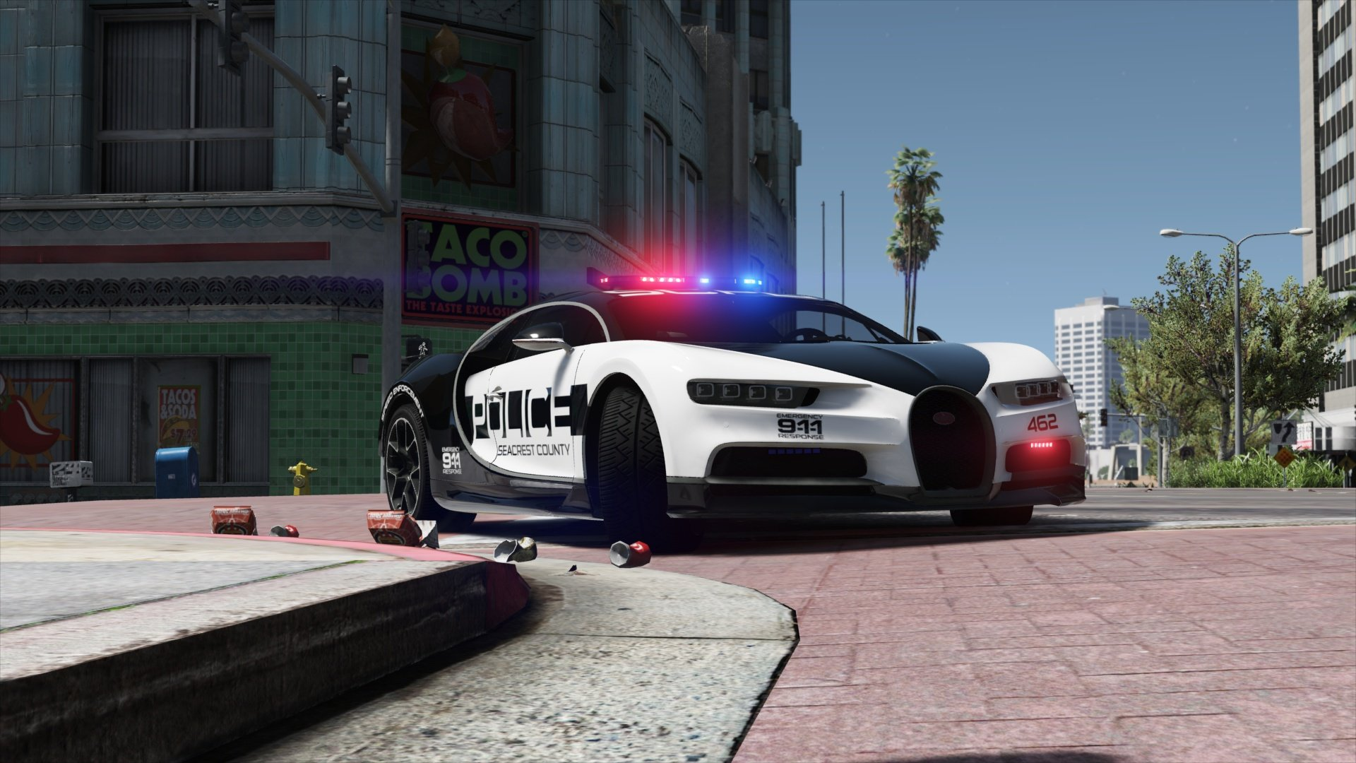 Hd Nfs Cars Wallpapers Bugatti Chiron Hot Pursuit Police Add On Replace