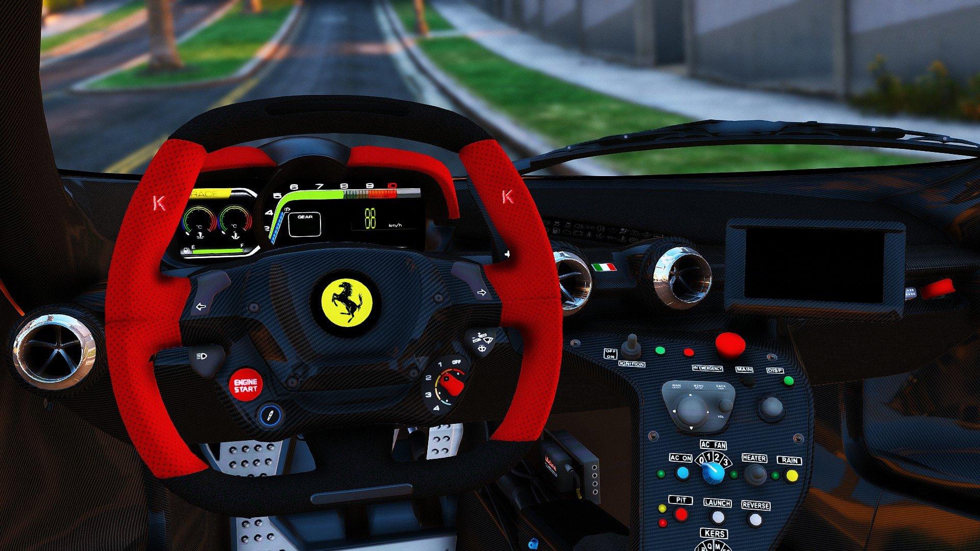 Ferrari FXX K Hybrid Hypercar Add On Vehicules Pour