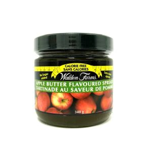 WaldenFarms Apple Butter Fruit Spread 340g. Gluten free, lactose free, sugar free, zero calories and zero carb, Kosher