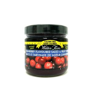 WaldenFarms Cranberry Sauce & Fruit Spread 340g. Gluten free, lactose free, sugar free, zero calories and zero carb, Kosher
