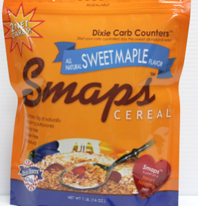 Dixie USA Carb Counters Smaps Low Carb Breakfast Cereal 1 lbs. All natural, Gluten Free, No Sugar added, Vegan, Dairy Free, Low Fat, Low Sodium, Low carb Heart Healthy.