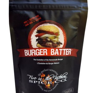 Fire In The Kitchen Spices Burger Batter 120g. No MSG, GMO Free, Gluten Free, All-Natural No Preservative.....with half the sodium than the leading spice brands.