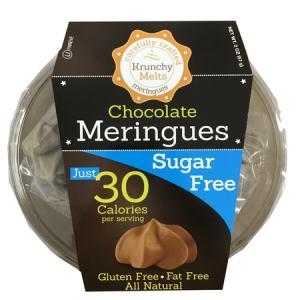 Krunchy Melts Meringues Chocolate 57g. All Natural, Sugar free, Gluten free, Fat Free, Kosher