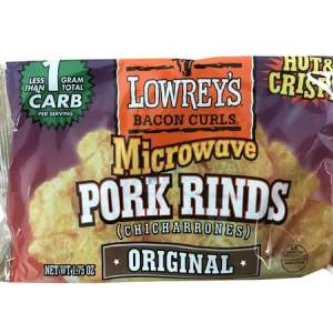 Lowrey's Bacon Curls Microwave Pork Rinds Original 1.75oz. Low Carb, High Protein
