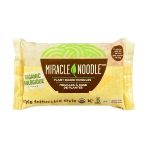 Miracle Noodle Fettuccini 200g. Guilt Free Noodle, Low Calories & Carb, Low Sodium, Cholesterol Free, Soy Free, Gluten Free, Vegan, NON GMO, Kosher