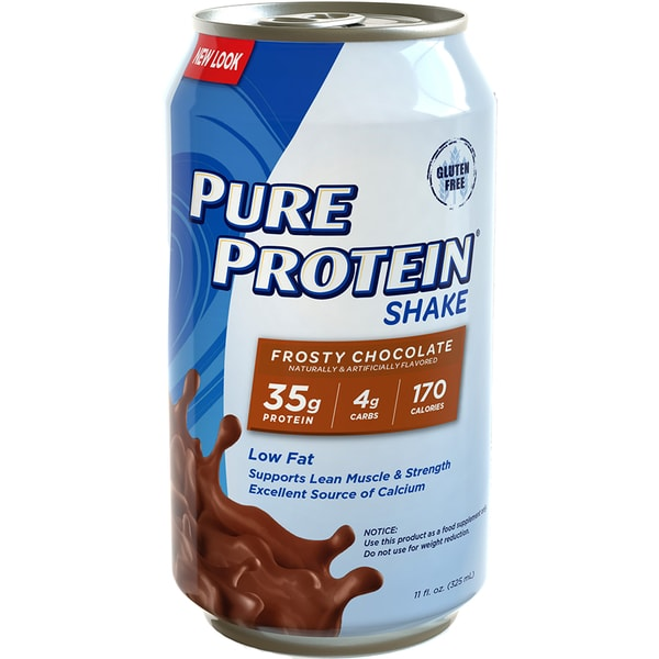 Pure Protein Shake Frosty Chocolate 325ml. Low fat, Low Carb, High Protein. Supports Lean Muscle & Strength Excellent Source of Calcium.