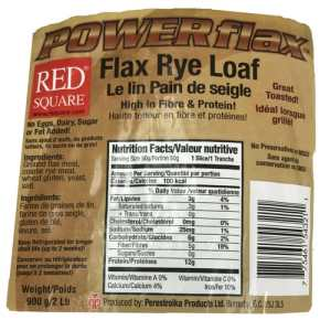 Red Square Low Carb PowerFlax FlaxRye Bagel Diabetic Friendly, Sugar Free, Dairy Free, Eggs Free, No Fat Added, and No Preservatives or MSG