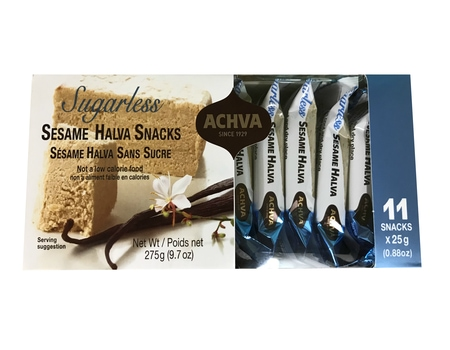 Achva Sugarless Sesame Halva Gift Pack 275g. Kosher, Sugarless