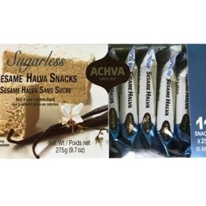 Achva Sugarless Sesame Halva Gift Pack 275g. Kosher, Sugarless
