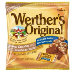Werther's Original Hard Candies Caramel Chocolate 60g. No Sugar added, The Old World Recipe.