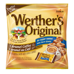 Werther's Original Hard Candies Caramel Coffee 60g. No Sugar added, The Old World Recipe.