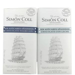 Simon Coll No Sugar added Milk Chocolate Bar Gluten Free