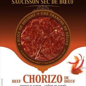 Amsellem Dried Beef Sausage Smocked Chorizo 40 Slices | 80g. Gluten Free, Lactose Free, Allergy Free, Kosher
