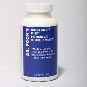 Dr. Poon's Metabolic Diet Formula Supplement 100 Capsules. Medication May Treat The Symptom, But Weight Reduction Treats The Cause.