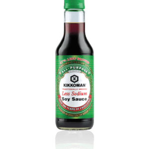 Kikkoman Less Sodium Soy Sauce 296ml. All-Purpose Seasoning, Over 300 Years of Excellence