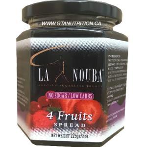 La Nouba 4 Fruits Spread 225g. No added preservatives, Sugar, Color or additives.