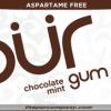 PUR Gum Aspartame Free Chocolate Mint Sugar Free All-natural Flavors Allergen Free Vegan Non-GMO