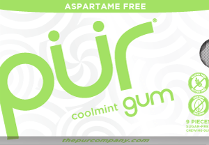PUR Gum Aspartame Free Coolmint Sugar Free All-natural Flavors Allergen Free Vegan Non-GMO