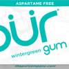 PUR Gum Aspartame Free Wintergreen Sugar Free All-natural Flavors Allergen Free Vegan Non-GMO