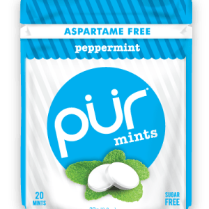 PUR Mint Aspartame Free Peppermint Sugar Free All-natural Flavors Allergen Free Vegan Non-GMO
